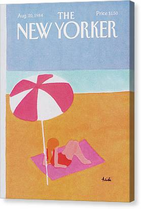 1984 Canvas Print - New Yorker August 20th, 1984 by Heidi Goennel