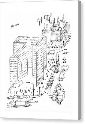 New Yorker August 21st, 1965 Canvas Print by Saul Steinberg
