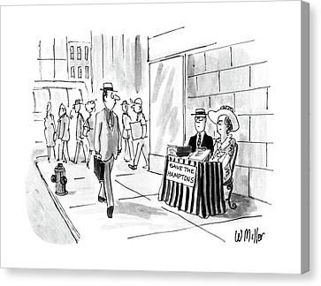 New Yorker August 22nd, 1988 Canvas Print by Warren Miller