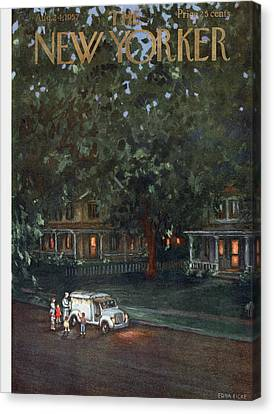 New Yorker August 24th, 1957 Canvas Print by Edna Eicke
