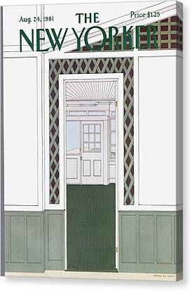 Panel Door Canvas Print - New Yorker August 24th, 1981 by Gretchen Dow Simpson