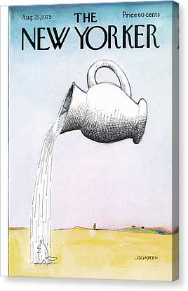 Pour Canvas Print - New Yorker August 25th, 1975 by Saul Steinberg