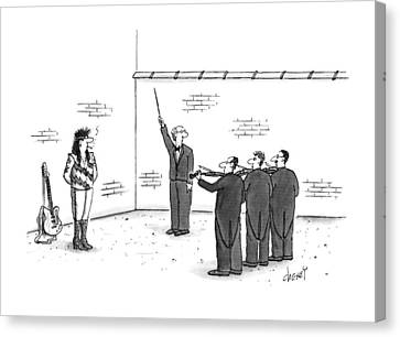 Blindfold Canvas Print - New Yorker August 26th, 1996 by Tom Cheney