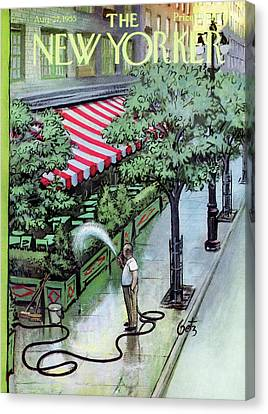 New Yorker August 27th, 1955 Canvas Print by Arthur Getz
