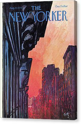 New Yorker August 27th, 1979 Canvas Print