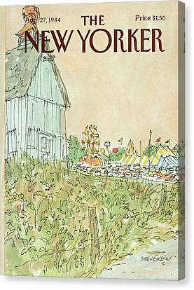 1984 Canvas Print - New Yorker August 27th, 1984 by James Stevenson
