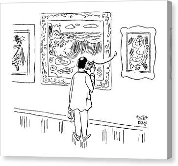 New Yorker August 28th, 1954 Canvas Print by Robert J. Day