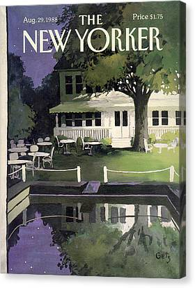 Reflections Of Nature Canvas Print - New Yorker August 29th, 1988 by Arthur Getz