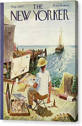 New Yorker August 2nd, 1947 Canvas Print by Garrett Price