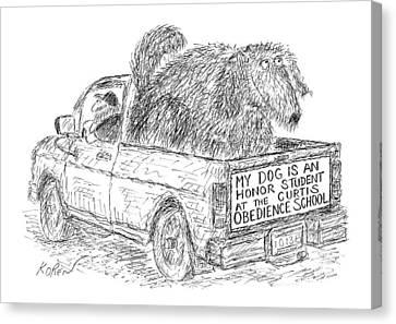 New Yorker August 2nd, 1999 Canvas Print by Edward Koren