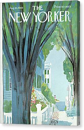 1969 Canvas Print - New Yorker August 30th, 1969 by Arthur Getz