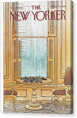 New Yorker August 30th, 1976 Canvas Print by Arthur Getz