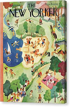 New Yorker August 31st, 1946 Canvas Print by Charles E. Martin