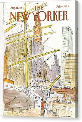 New Yorker August 31st, 1981 Canvas Print