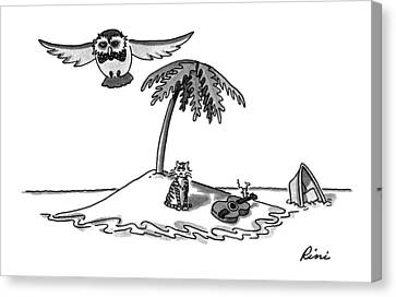 Rowboat Canvas Print - New Yorker August 31st, 1992 by J.P. Rini