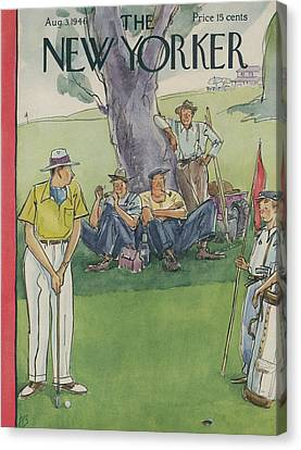 New Yorker August 3rd, 1946 Canvas Print