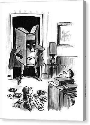 Captions Canvas Print - New Yorker August 3rd, 1992 by Warren Miller