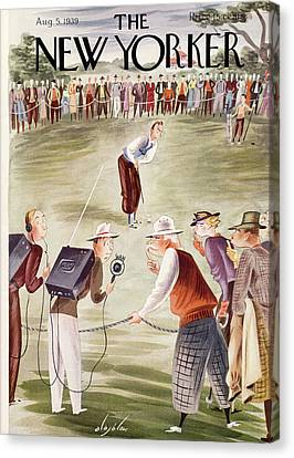 Cal Canvas Print - New Yorker August 5th, 1939 by Constantin Alajalov
