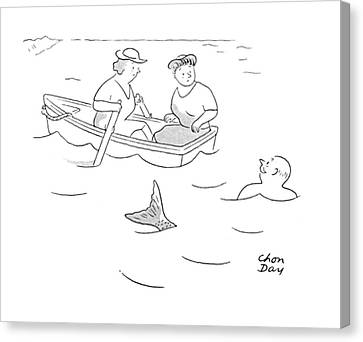 Rowboat Canvas Print - New Yorker August 5th, 1944 by Chon Day