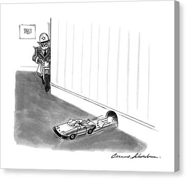 Police Canvas Print - New Yorker August 5th, 1991 by Bernard Schoenbaum