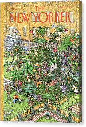 New Yorker August 5th, 1991 Canvas Print
