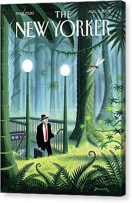 Depot Canvas Print - New Yorker August 5th, 2002 by Eric Drooker