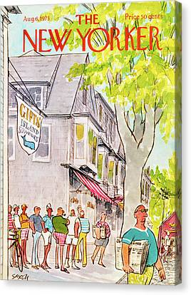 Nantucket Canvas Print - New Yorker August 6th, 1973 by Charles Saxon