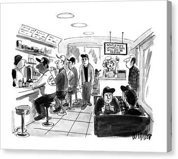 Cap Canvas Print - New Yorker August 6th, 1990 by Warren Miller