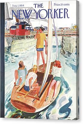 1954 Canvas Print - New Yorker August 7th, 1954 by Garrett Price