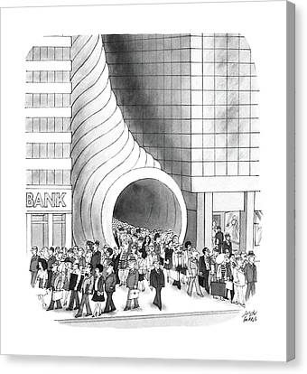 New Yorker August 8th, 1988 Canvas Print by Joseph Farris