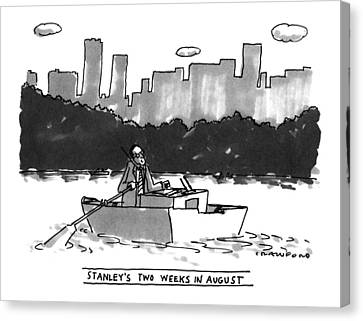Rowboat Canvas Print - New Yorker August 8th, 1994 by Michael Crawford