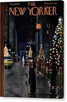 Decoration Canvas Print - New Yorker December 10th, 1955 by Alain