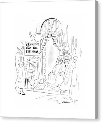 Down East Canvas Print - New Yorker December 11th, 1943 by  Alain