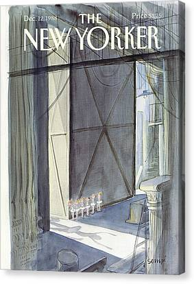 New Yorker December 12th, 1988 Canvas Print by Jean-Jacques Sempe
