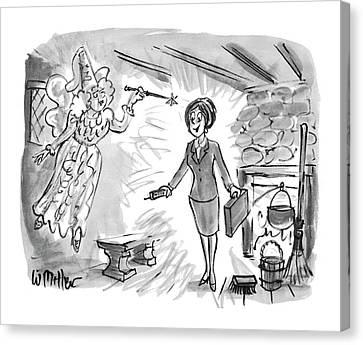 Cellular Canvas Print - New Yorker December 13th, 1993 by Warren Miller