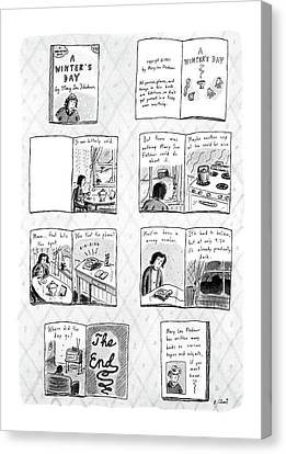 New Yorker December 14th, 1987 Canvas Print by Roz Chast