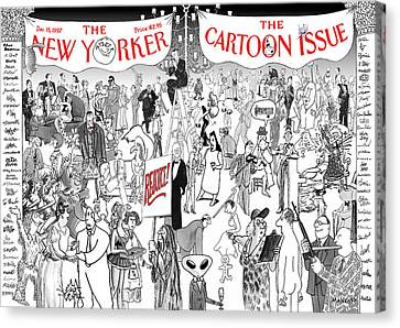 New Yorker December 15th, 1997 Canvas Print by Robert Mankof