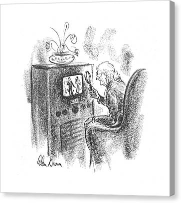 New Yorker December 16th, 1939 Canvas Print by Alan Dunn