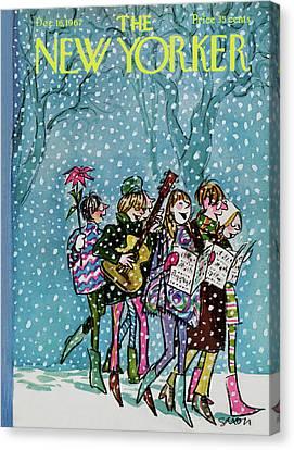New Yorker December 16th, 1967 Canvas Print