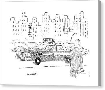 Police Canvas Print - New Yorker December 16th, 1991 by Robert Mankoff