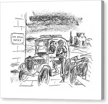 New Yorker December 18th, 1943 Canvas Print by Alan Dunn