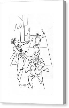 New Yorker December 18th, 1943 Canvas Print by Mischa Richter