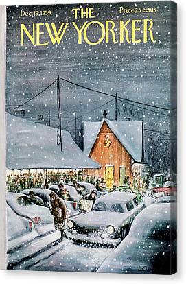 Shopping Canvas Print - New Yorker December 19th, 1959 by Charles Saxon