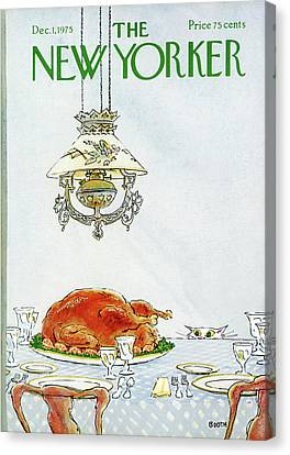 Turkey Canvas Print - New Yorker December 1st, 1975 by George Booth