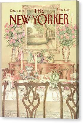 New Yorker December 1st, 1986 Canvas Print by Jenni Oliver