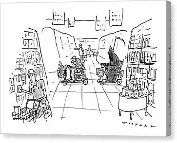 Grocery Store Canvas Print - New Yorker December 1st, 1997 by Bill Woodman