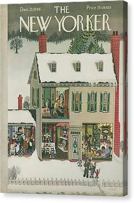 New Yorker December 21st, 1946 Canvas Print by Edna Eicke