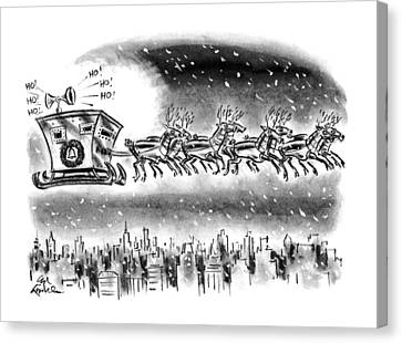 New Yorker December 21st, 1992 Canvas Print by Ed Fisher