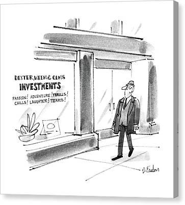 New Yorker December 22nd, 1986 Canvas Print by Dana Fradon