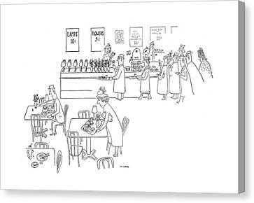 New Yorker December 23rd, 1944 Canvas Print by Saul Steinberg